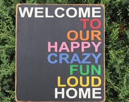 funny welcome funny entrance sign etsy