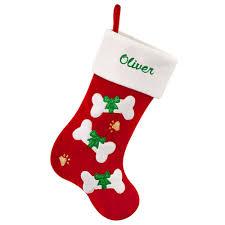 personalized bones on red christmas stocking bronner u0027s