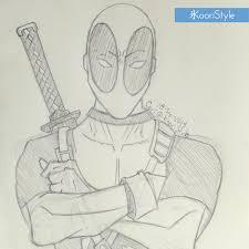 drawing sketch deadpool 04 png