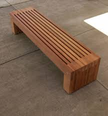 Garden Wooden Bench Diy by Outdoor Furniture Brown Outdoor Wood Bench Patio Two Legs