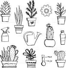 hand drawn vector garden icon set vintage sketch set of hand drawn