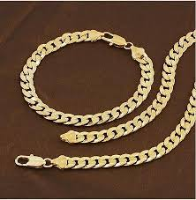 gold filled chain necklace images Fashion jewelry necklace 5mm 500mm 18k yellow gold filled beads jpg