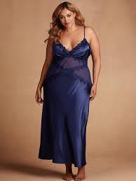 Navy Blue Lace Dress Plus Size Plus Size Charmeuse And Mesh Lace Gown Hips U0026 Curves
