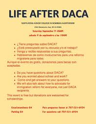 Srjc Map Life After Daca Town Hall Student Equity