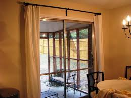 Patio Door Curtain Rod Curtain Pictures Of Window Treatments For Sliding Glass Doors In