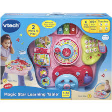 vtech activity table deluxe magic star learning table trade pink walmart com