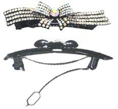 barrette with ornamental ribbon bow nf86012 nmb find