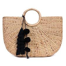 Beach Basket Beach Basket Large Tassel Black U2013 Jadetribe