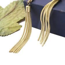 trendy gold earrings wholesale trendy gold tone fringe statement dangle