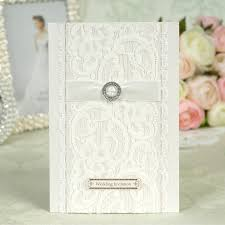 Affordable Wedding Invitations With Response Cards Online Buy Wholesale Wedding Card With Lace Ribbon From China
