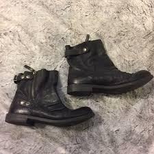 Nine West Boots Nine West Maeble Black Leather Motorcycle Booties