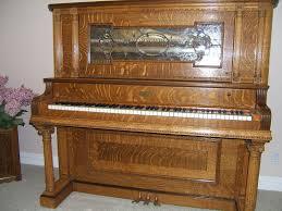 1904 lindeman quarter sawn oak antique piano u0026 bench piano bench
