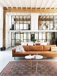 porte style atelier d artiste verrière style atelier dans un loft rénové murs de briques