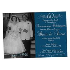 60th wedding anniversary invitations photo