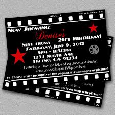 hollywood themed birthday party invitations cloudinvitation com