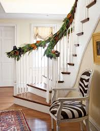 Banister Decor Festive Holiday Staircases And Entryways Traditional Home