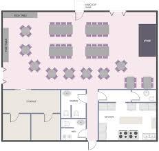 and restaurant floor plan solution conceptdraw com building plans