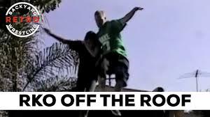 rko off the roof backyard wrestling retro youtube