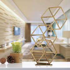 stainless steel home decor best and cheap golden tooarts cube abstract ornament electroplating