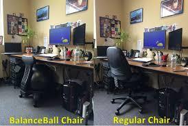 Balance Ball Chair With Arms Office Chair Battle Gaiam Balanceball Chair Vs Regular Desk