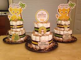 lion king baby shower lion king themed baby shower diaper cakes