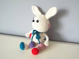 crochet handmade white bunny rabbit amigurumi home decor kids baby