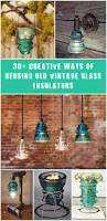 Decorative Lights For Vases 30 Creative Ideas Using Vintage Glass Insulators Glass