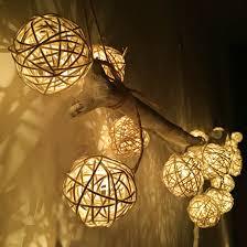 rattan ball fairy lights 2m led string light warm white 20 led rattan ball string lights