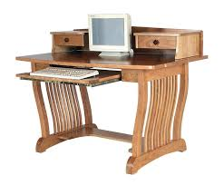 Desks With Shelves by Royal Mission Computer Desk With Top Shelf From Dutchcrafters