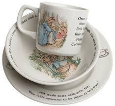 rabbit nursery set by wedgwood wedgwood rabbit original 3 pce set plate 18cm bowl mug