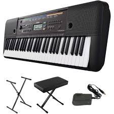 yamaha psr e253 portable keyboard kit with stand bench and