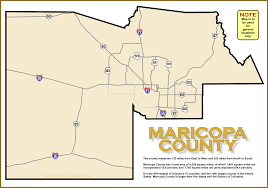 County Map Of Arizona by Map Of Maricopa County Arizona A2z Computer Works
