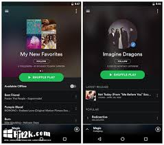 spotify for tablet apk spotify v8 4 5 1092 mod apk hit2k software free