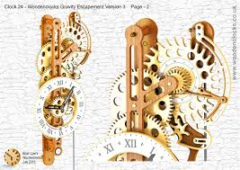 Free Wooden Gear Clock Plans Download by Clock24