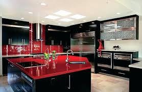 Red Black White Kitchen - red and black kitchen cabinets u2013 mechanicalresearch