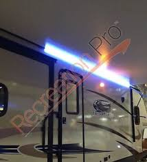 12 volt led strip lights for rv recpro rv 16 white led awning party light w mounting channel