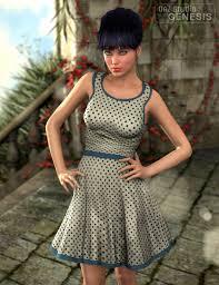 casual short dress 3d models and 3d software by daz 3d