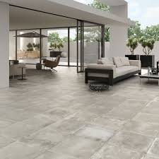 Exterior Tiles For Patios For An Industrial Patio Space In A Garden Use Anti Slip Concrete