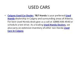 honda calgary used cars t and t honda