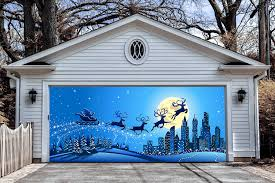 3d garage door covers christmas decorations outdoor wall banners