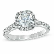 cushion cut engagement ring 2 ct t w certified cushion cut frame engagement ring in