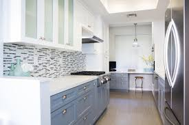 Two Color Kitchen Cabinets Two Tone Kitchen Cabinets Brown And White White Modern Counter L