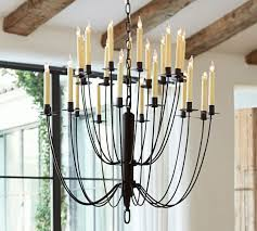 Candle Chandelier Pottery Barn Hartford Chandelier Pottery Barn