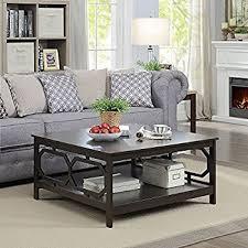 36 square coffee table amazon com convenience concepts oxford 36 square coffee table
