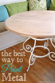 the best way to paint metal furniture