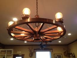 wagon wheel rustic chandelier