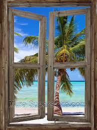 beach cabin window 5 wall mural window self adhesive wall mural
