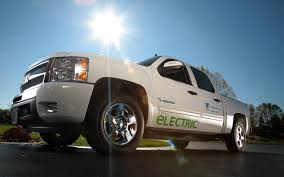 electric pickup truck an electric hybrid truck designed for utility fleets that can