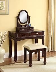 Espresso Vanity Table Cherry Vanity Set 2 Pcs Set U2013 Pacific Imports Inc