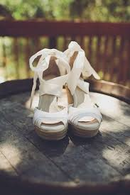 ribbon wedges shoes white wedges strappy bow cork white shoes ribbon wedges
